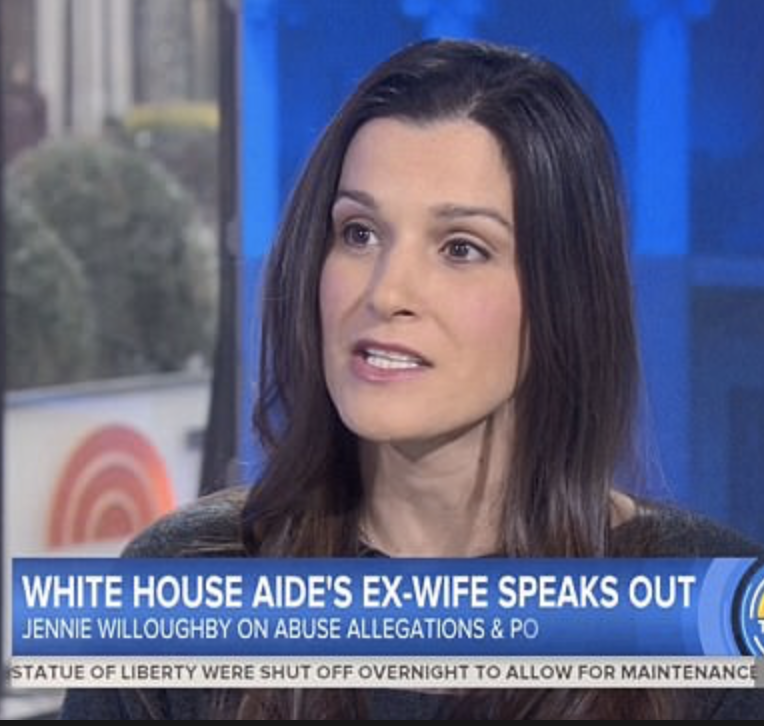 Rob Porters Exwife Jennie Willoughby Just Wrote A Powerful Essay  Last Week Two Men In The White House Were Felled By Domesticviolence  Allegations One David Sorensen Was A Speechwriter Another Rob Porter  A Top Aide